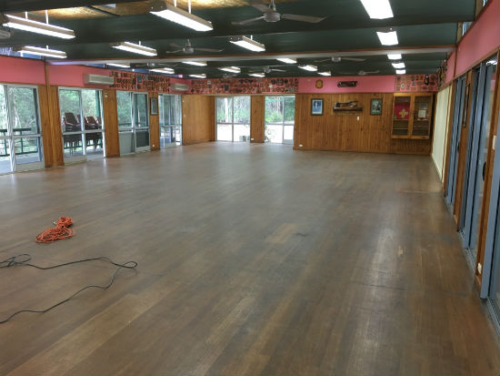 Samford Scout Hall orignial condition before sanding