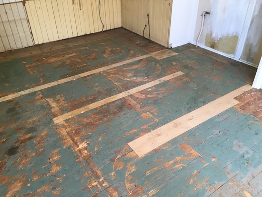 Before - 100 year old timber floor
