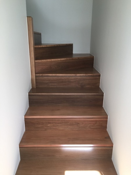 Brand new Spotted Gum stairs
