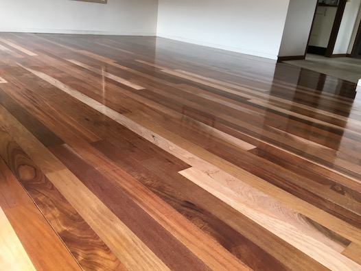 WE LOVE mixed flooring - this one is a Chestnut