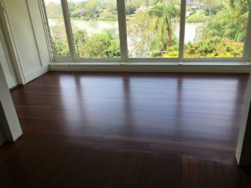 Room with a view!   Water based Loba Duo semi gloss.