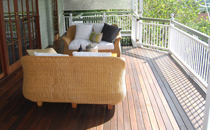 Stylish timber deck